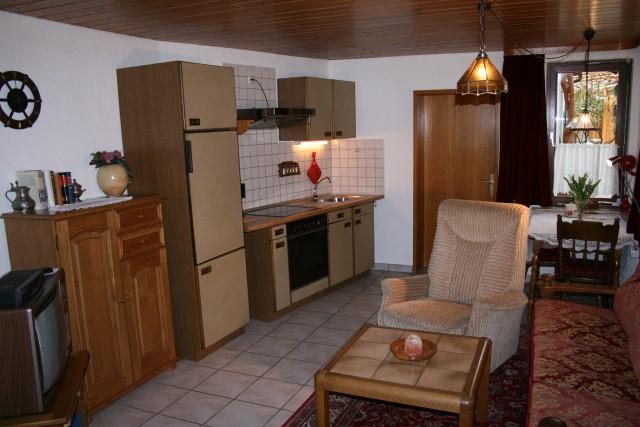 Wohnung 1 - Wohnzimmer und Kochnische